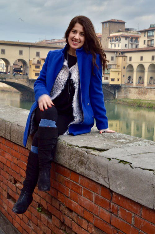 Haylee Pearson is seen in Florence, Italy, after her move abroad.