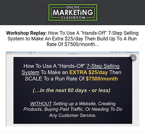 Serial Number Online Marketing Classroom Online Business