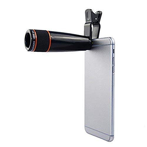 AYBOR 12X Mobile Telescope Zoom Camera Lens for Android and iOS Black