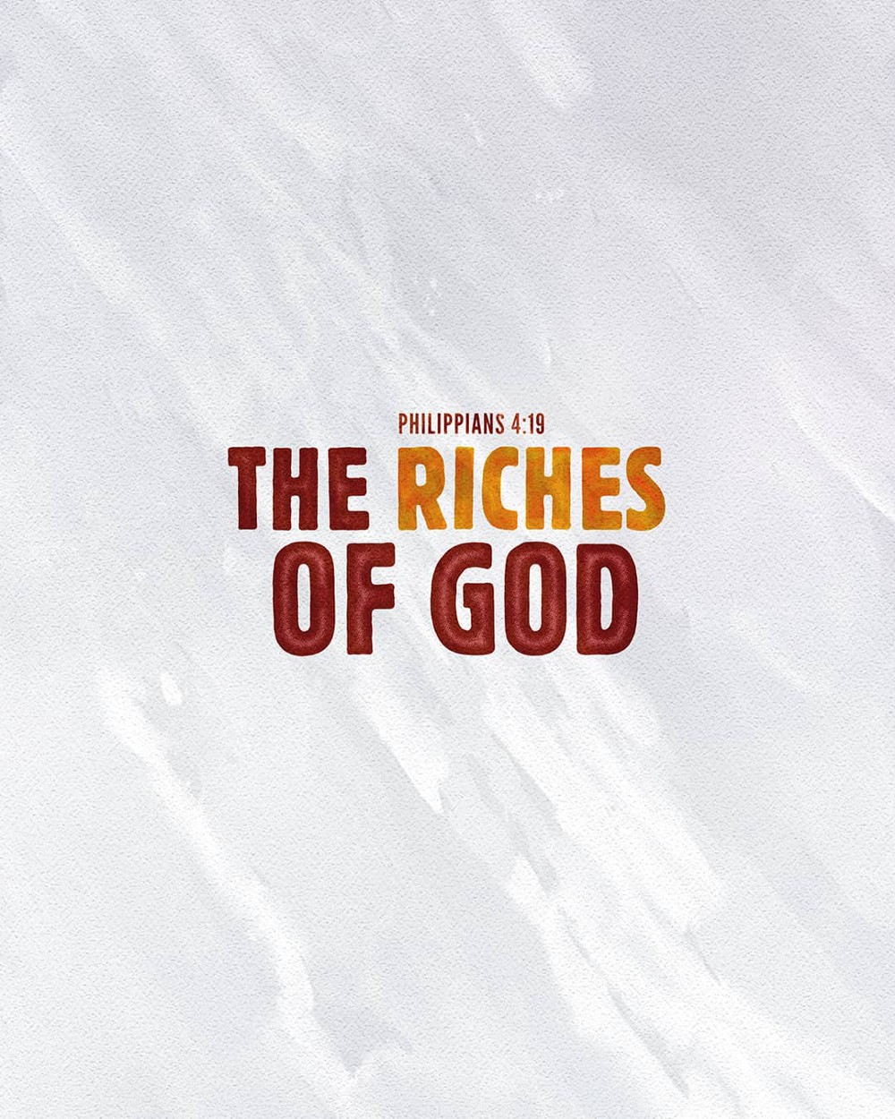 The riches of God | Small Voice Today