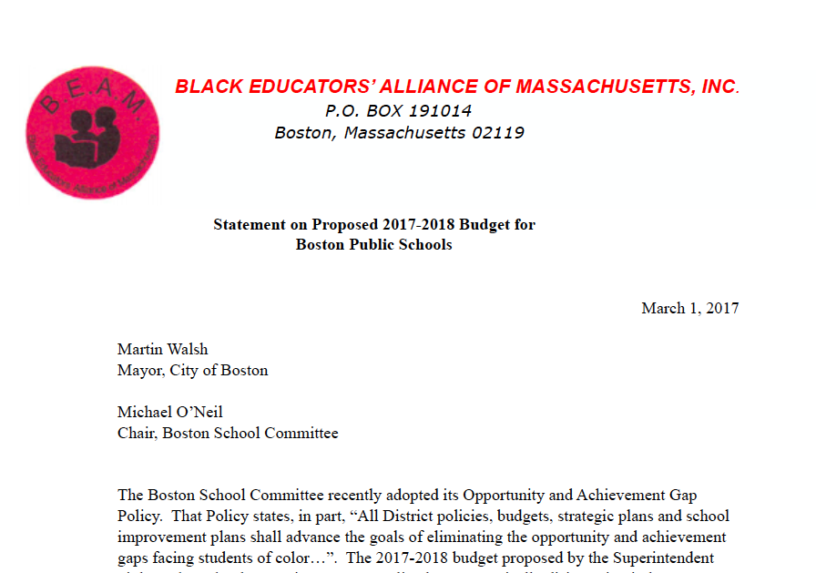 The BPS budget: How about giving every school enough to offer a good