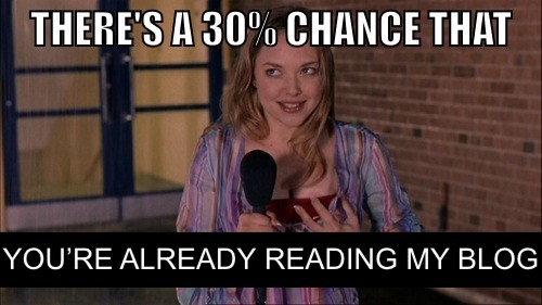 Karen Smith: There's a 30% chance that you're already reading my blog