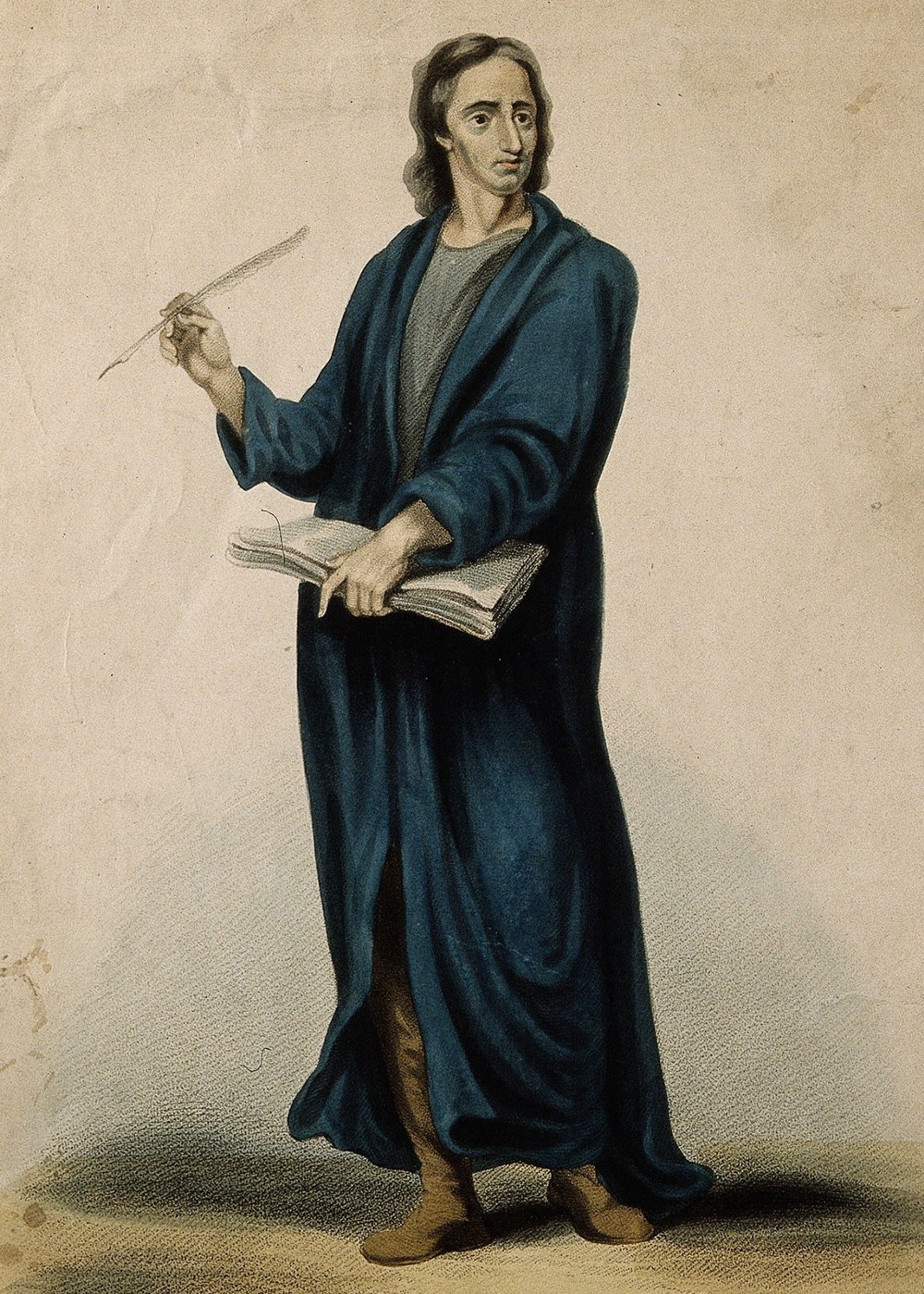 John Locke, coloured stipple engraving by James Godby after G.B. Cipriani. Wellcome Library, London (no. V0003673)