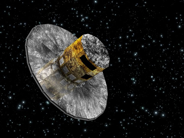 An artist's conception of the Gaia spacecraft in space.
