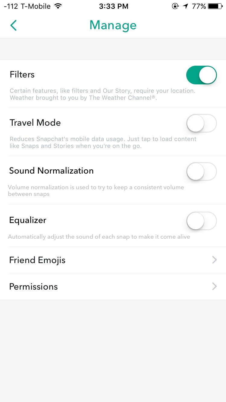 Snapchat Sound Preferences - Mike Schmidt - Medium