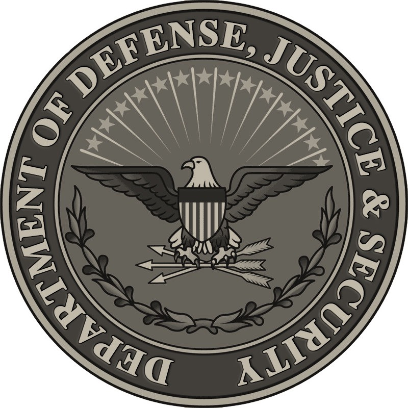 Logo for the new Department of Defense, Justice & Security