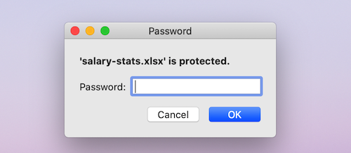 password protected excel file