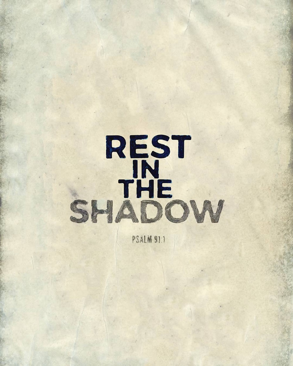 Rest in the shadow | Small Voice Today