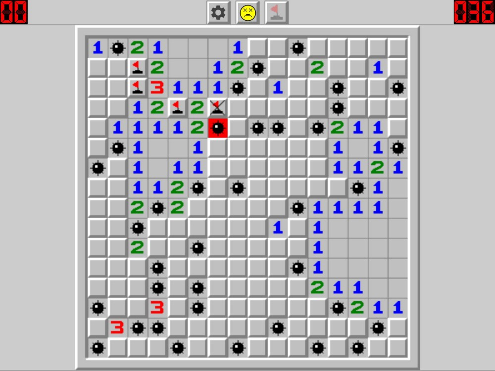 Minesweeper game-over sample