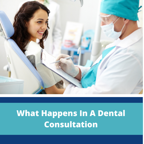 What happens in a dental consultation?