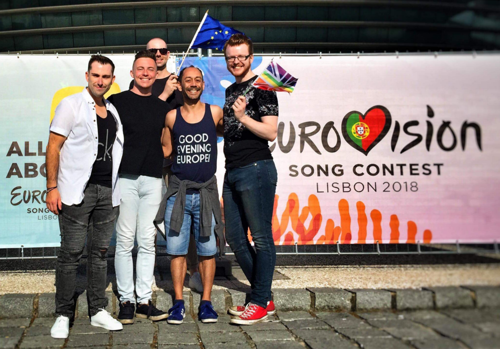 Ant Babajee and friends at Eurovision 2018 in Lisbon