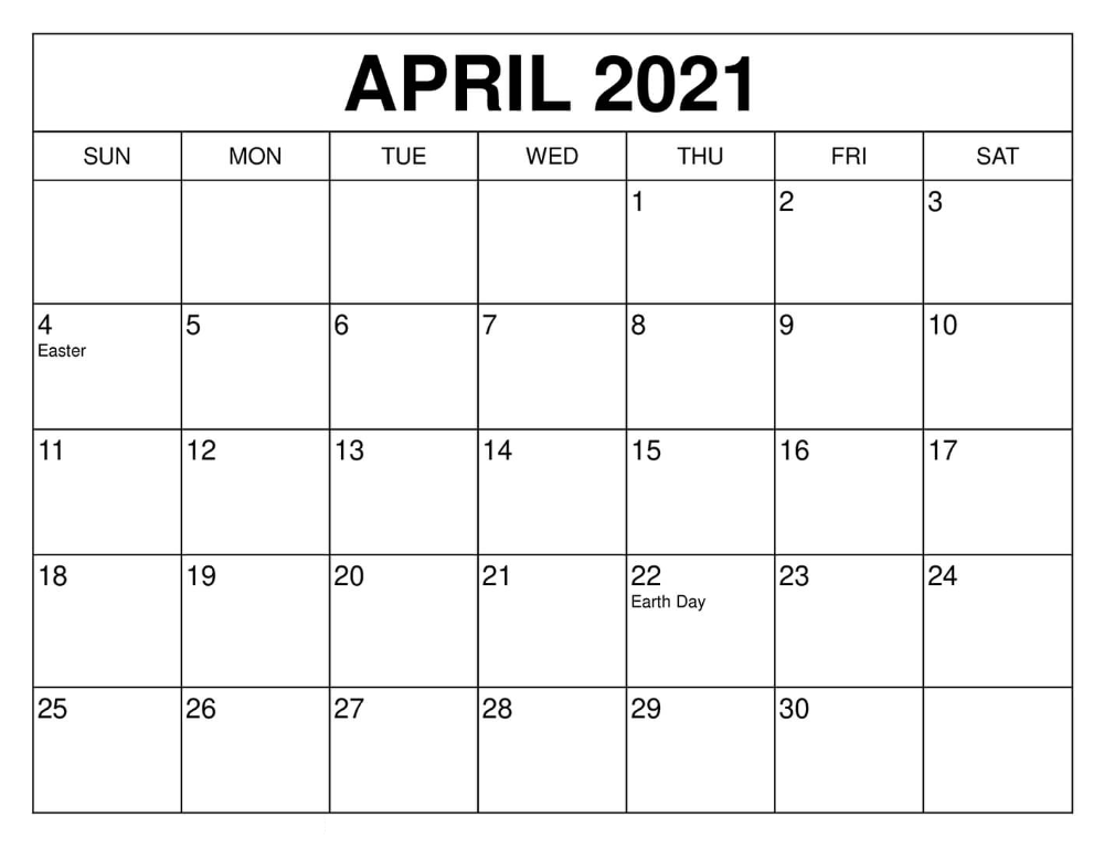 April 2021 Calendar UK USA Holidays Template | by Calendarness
