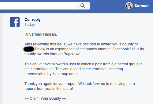Distorted and Undeletable Posts in Facebook Group - InfoSec