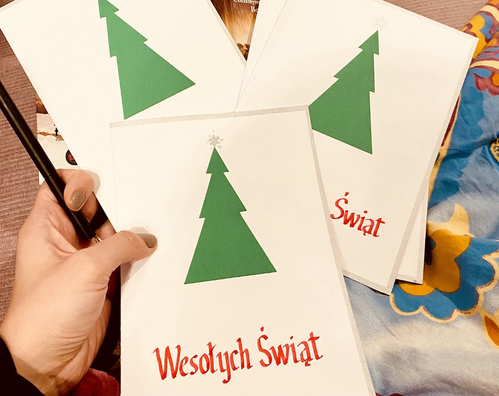 Picture of the holidays (Christmas) cards made by my husband.
