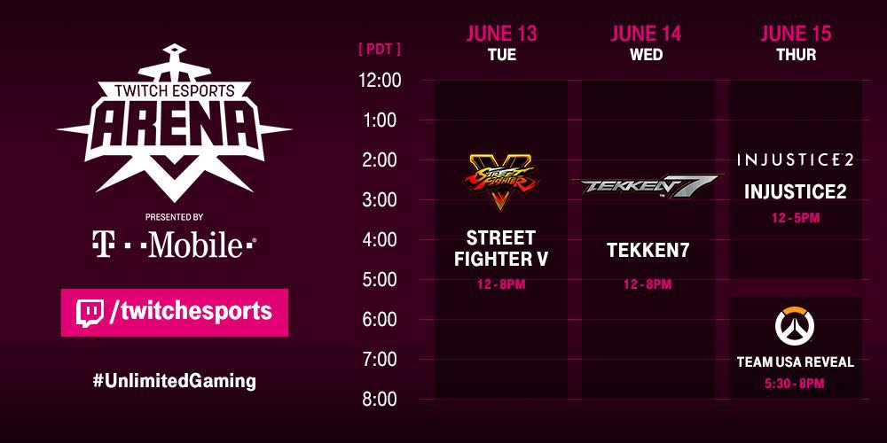 Watch the Twitch Esports Arena, Presented by T-Mobile at E3!