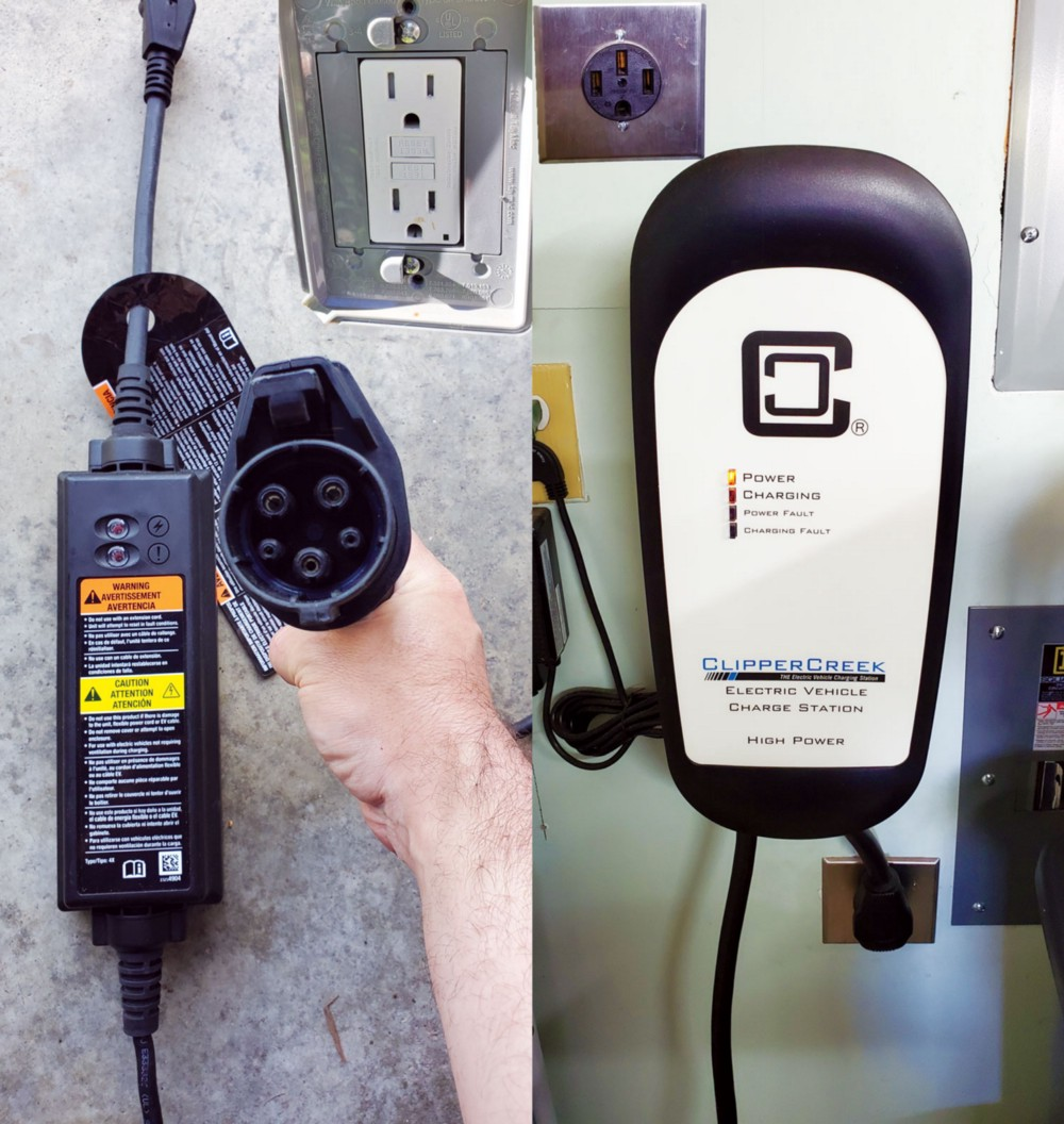 Electric vehicle chargers.