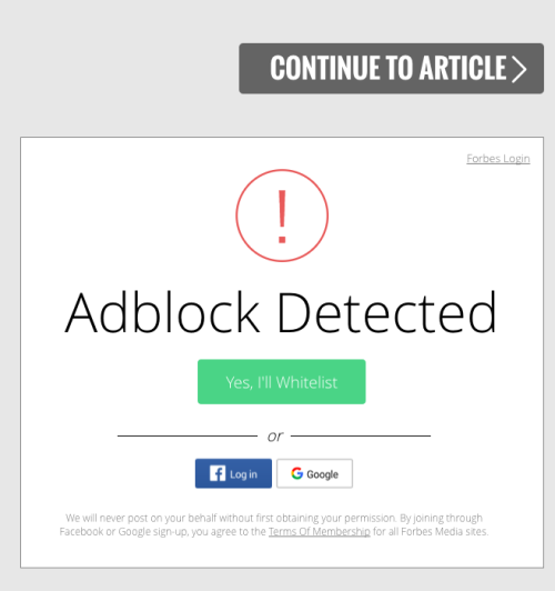 F**kadblock! How publishers are defeating ad blockers & how