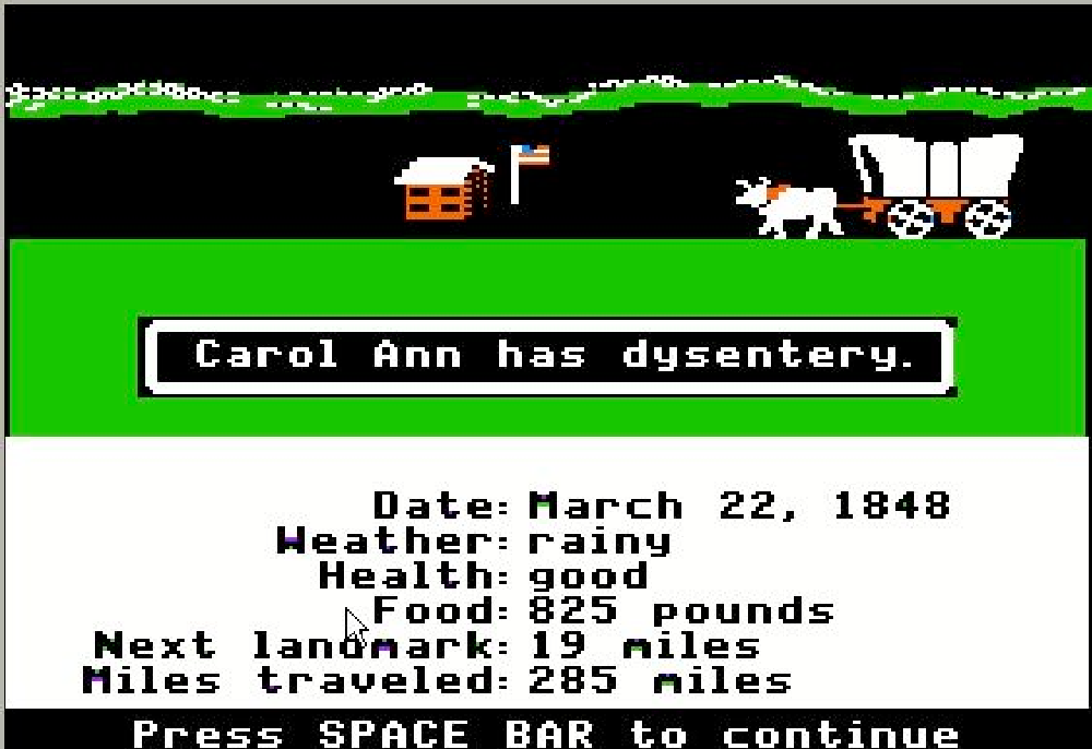 You Have Died Of Dysentery And What The Oregon Trail Video