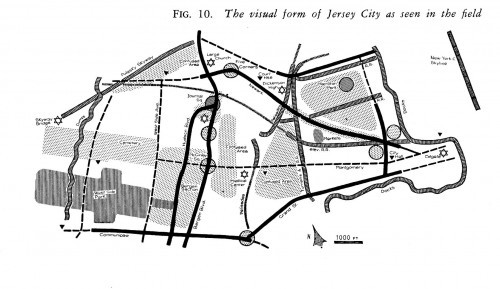 Map of Jersey City from the Image of the City