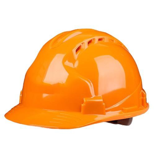 A hard-hat (helmet) for protecting a persons head.