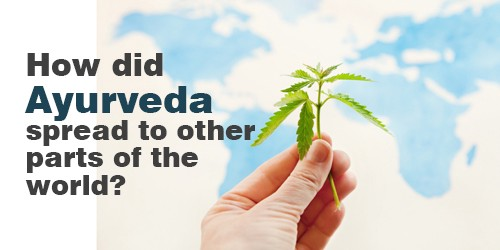 How did Ayurveda spread to other parts of the world