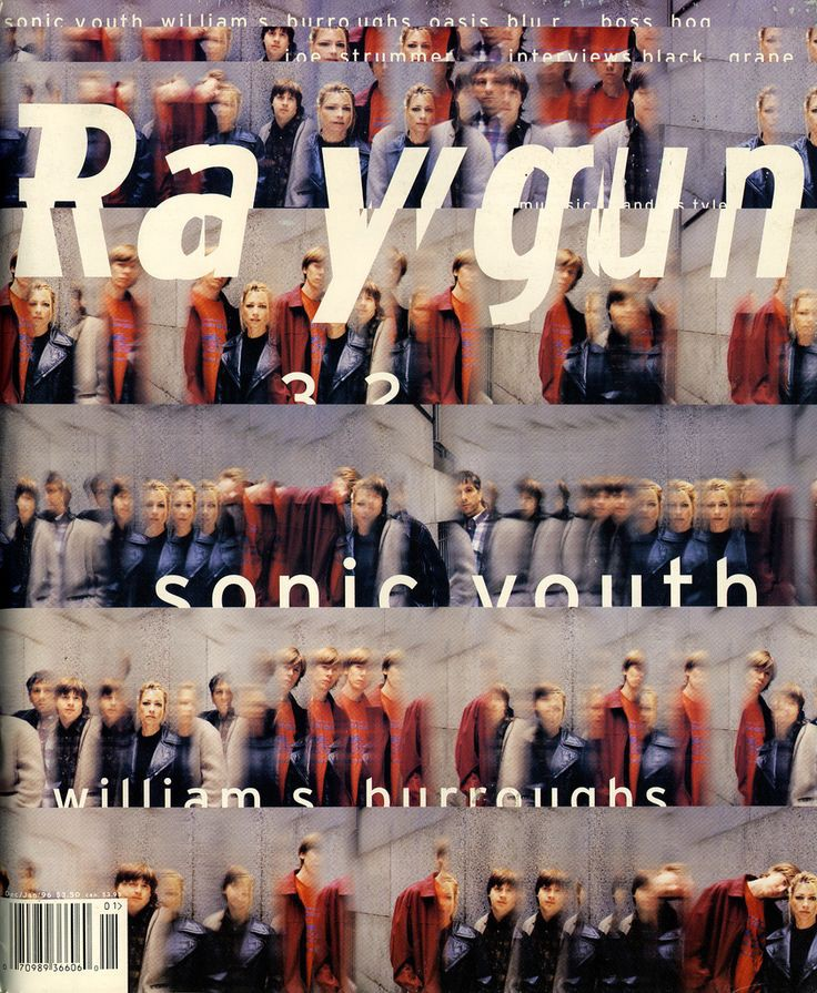 Ray Gun, issue 32, Sonic Youth, William Burroughs, 1996