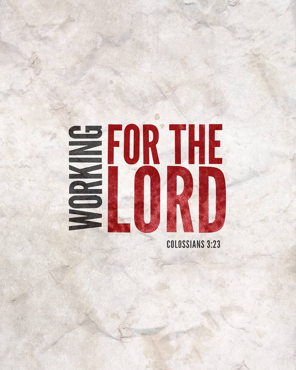 Working for the Lord | Small Voice Today