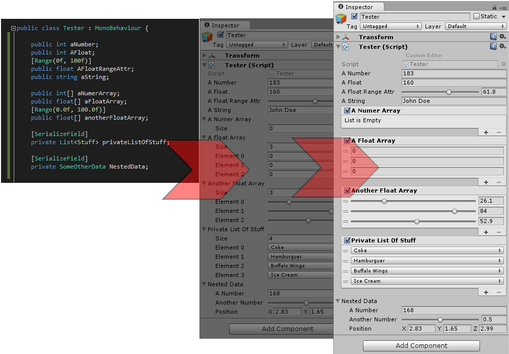 How about having nice arrays and lists in Unity3d by default?