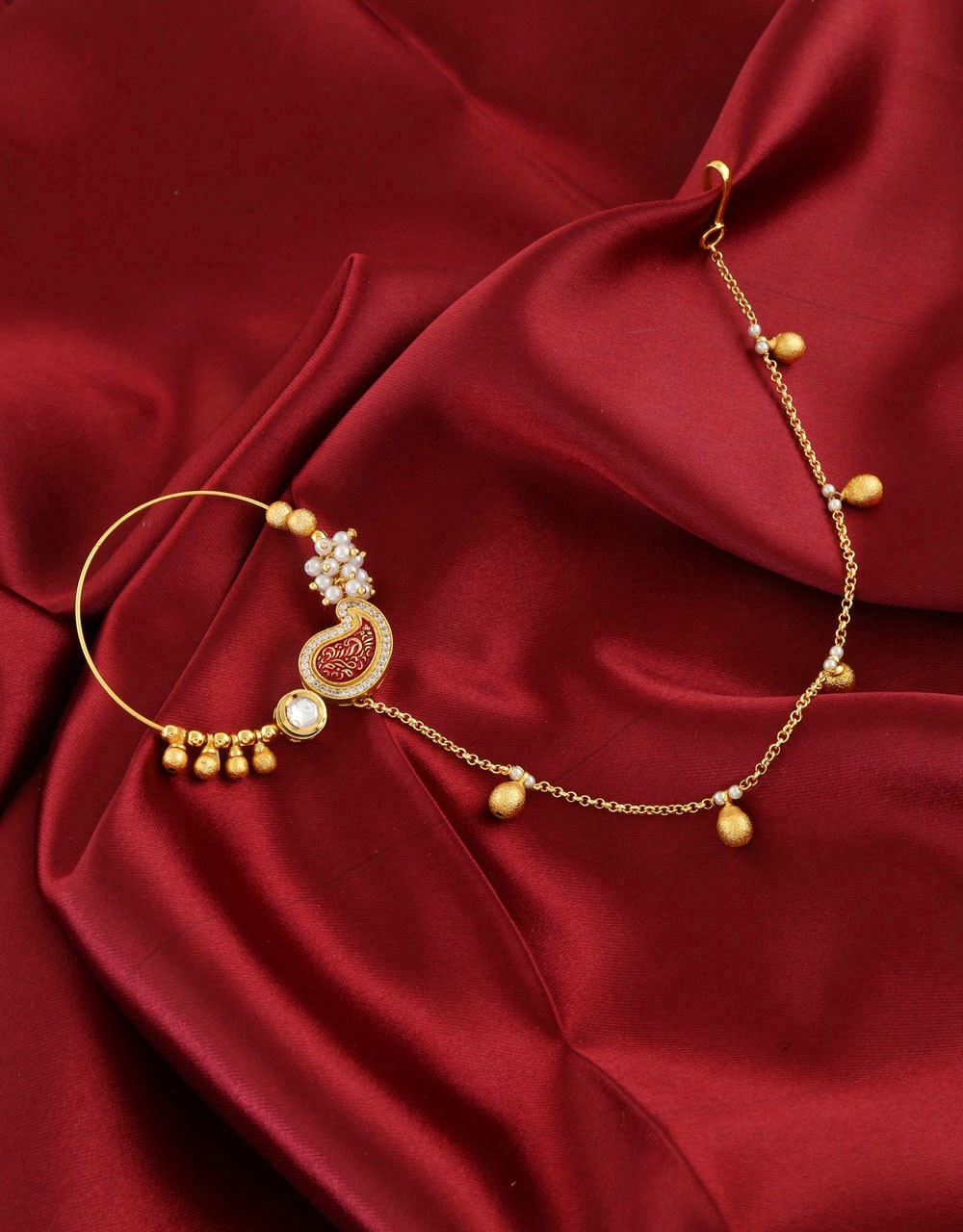 Stylish Designs Of Bridal Nose Ring Significance In Indian