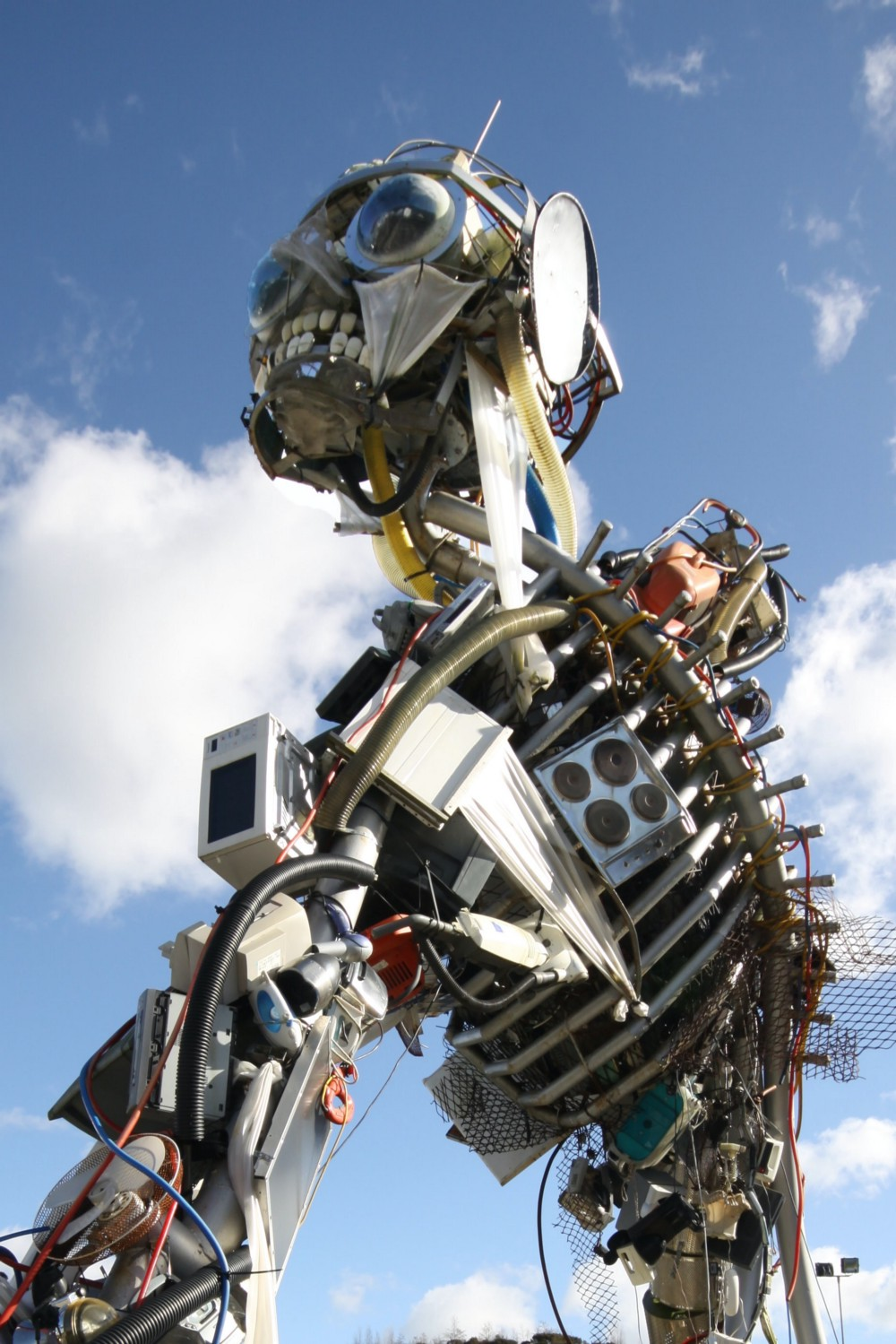 This big and scary looking robot looks like a mishmash of different machines and circuitry. Yet the long-term viability about our scary but beautiful robot is found in how the individual components which make up the robot work together!