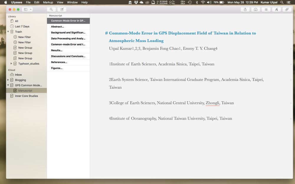 Writing scientific manuscript in Ulysses (Image by author)