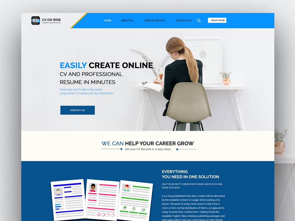 Cv Web Free Html Resume Template Cv Template By Html Design