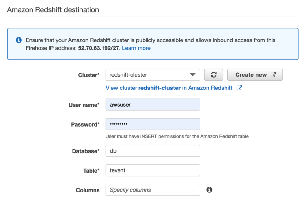 Push AWS IoT sensor data to Redshift with Kinesis Firehose