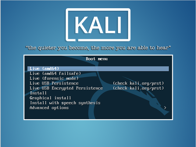 Installing Kali Linux from USB - Noteworthy - The Journal Blog