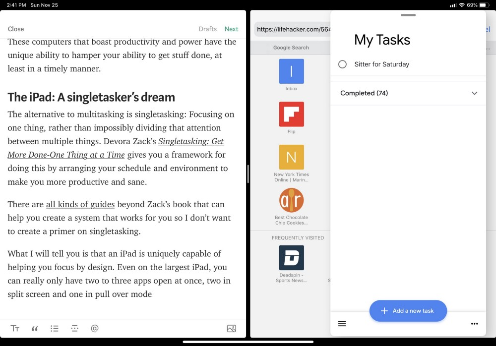 The iPad Pro: A Welcome Relief From Multitasking - Lance Haun