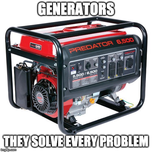 Picture of a gas powered generator