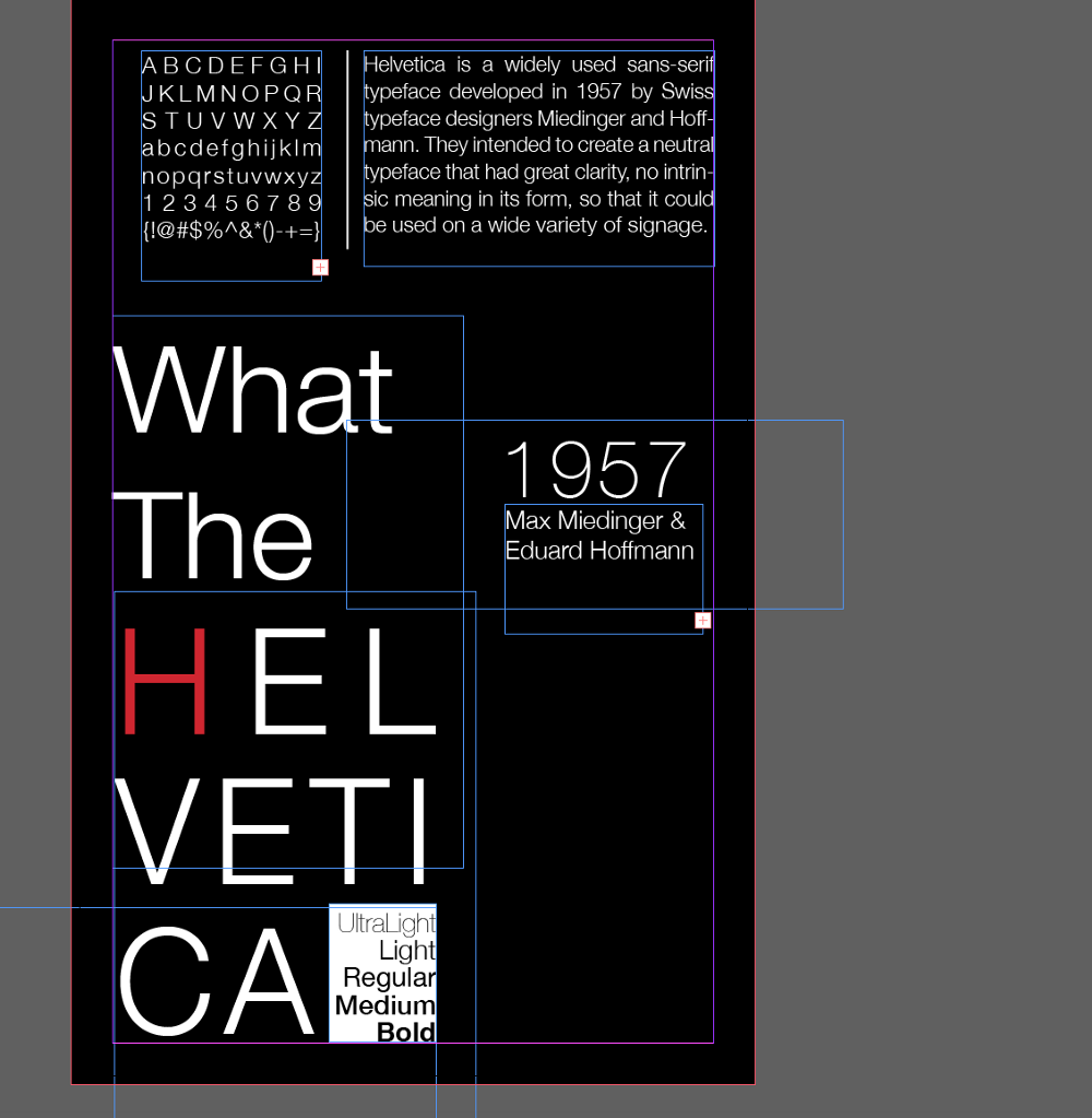 My typeface is Helvetica  - Communication Design Fundamentals - Medium