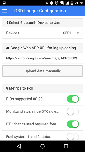 Using OBD protocol to read live metrics from a car engine