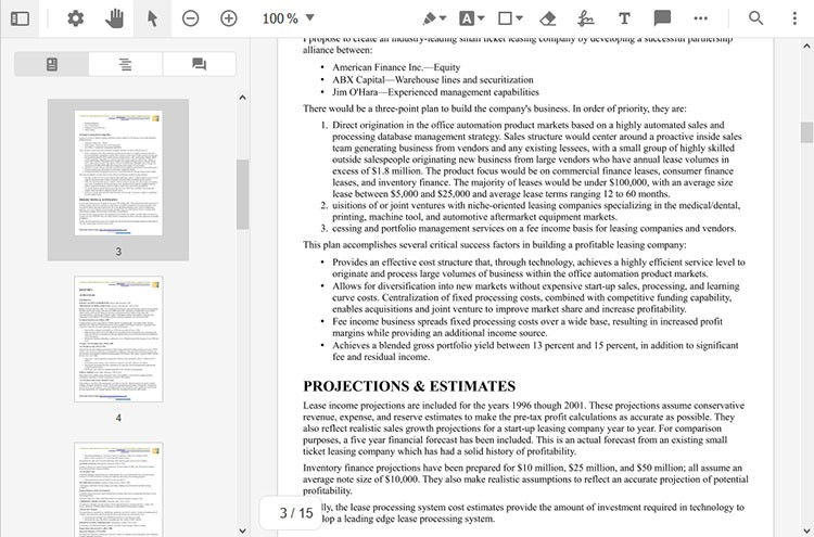How navigation panel assists the reading of PDF