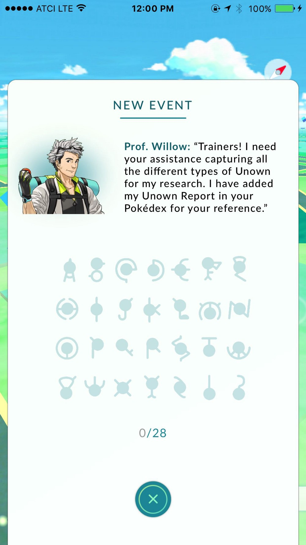 Pokemon Go Unown Event