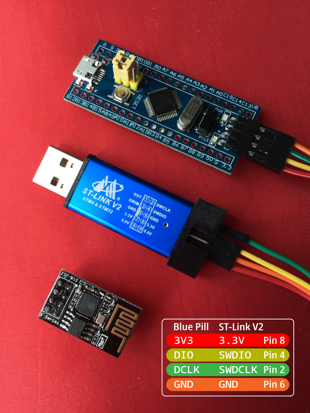 Connect STM32 Blue Pill to ESP8266 with Apache Mynewt