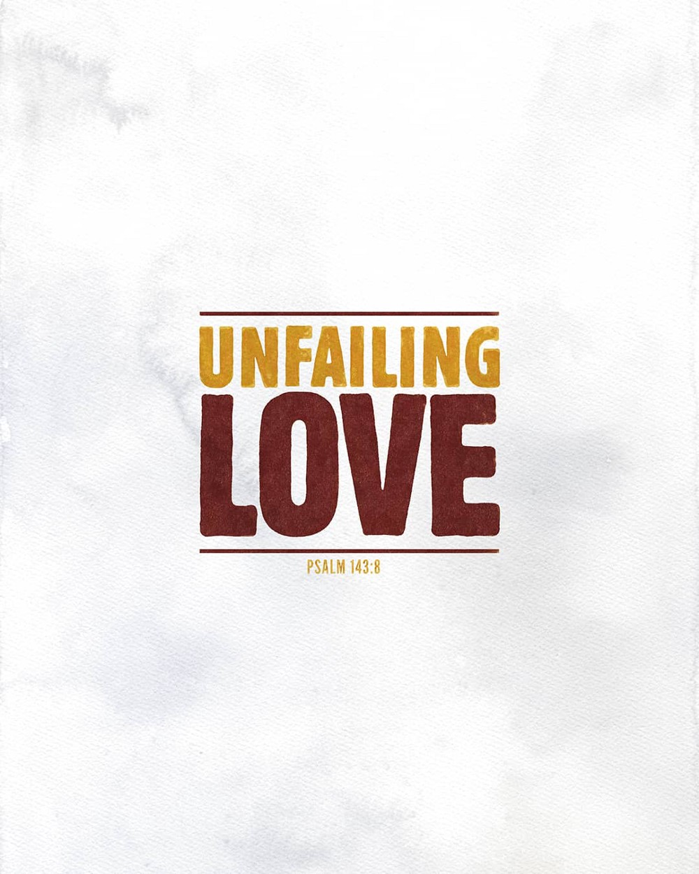 Unfailing love | Small Voice Today