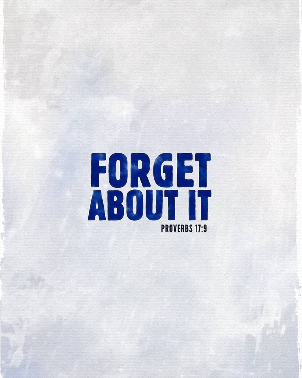 Forget about it | Small Voice Today