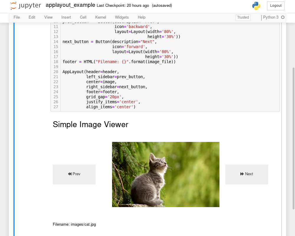 Introducing templates for Jupyter widgets layouts - Jupyter Blog