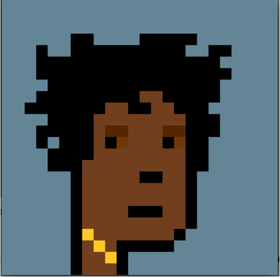 Figure 1 Jay-Z's CryptoPunk, which he displays as his Twitter avatar