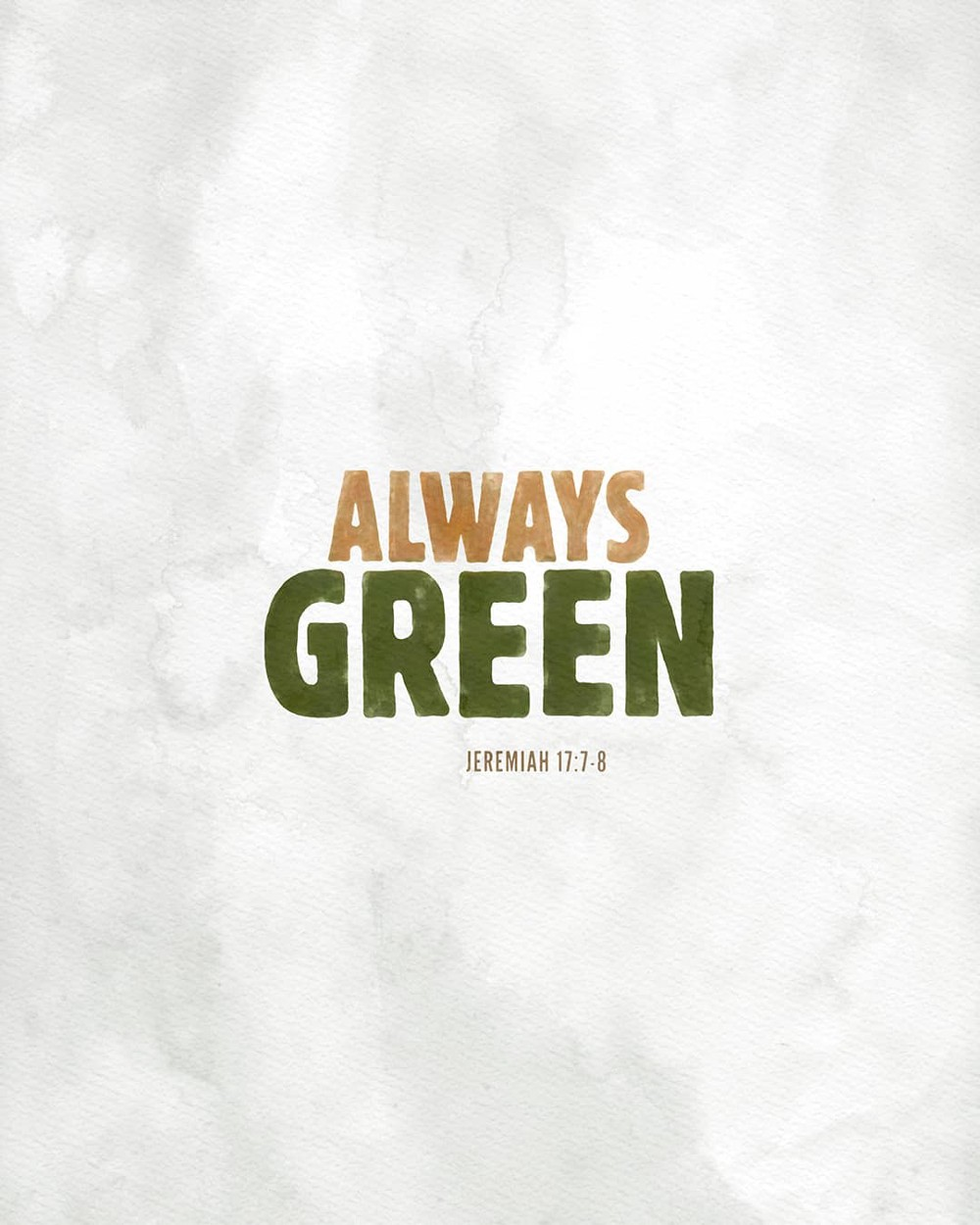 Always green | Small Voice Today