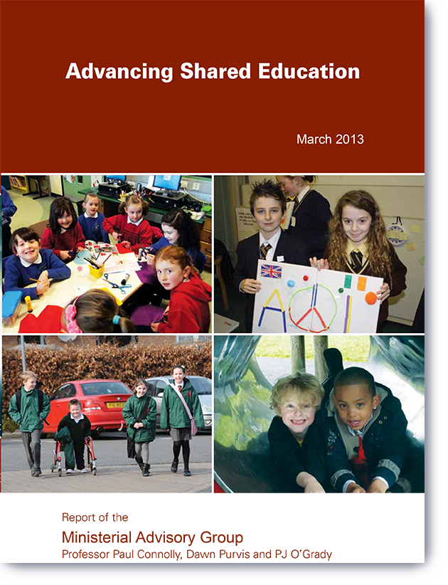 Report cover, Advancing Shared Education (2013)