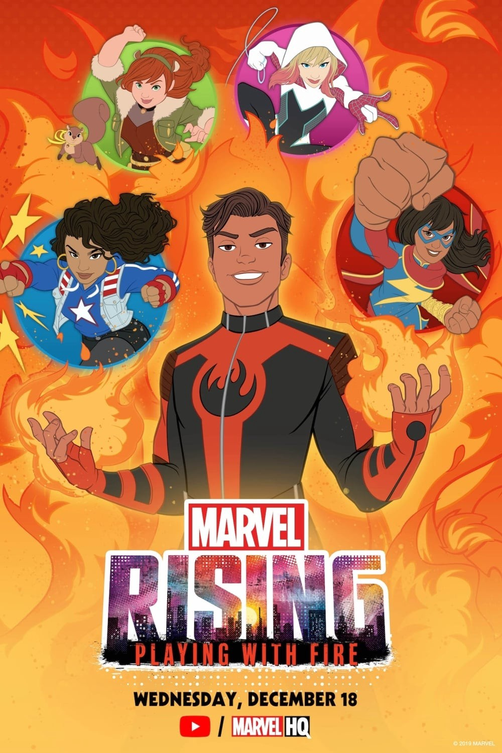"""Animation Cartoon Full Movie full ‖ watch """"marvel rising: playing with fire"""" 2019~movies"""