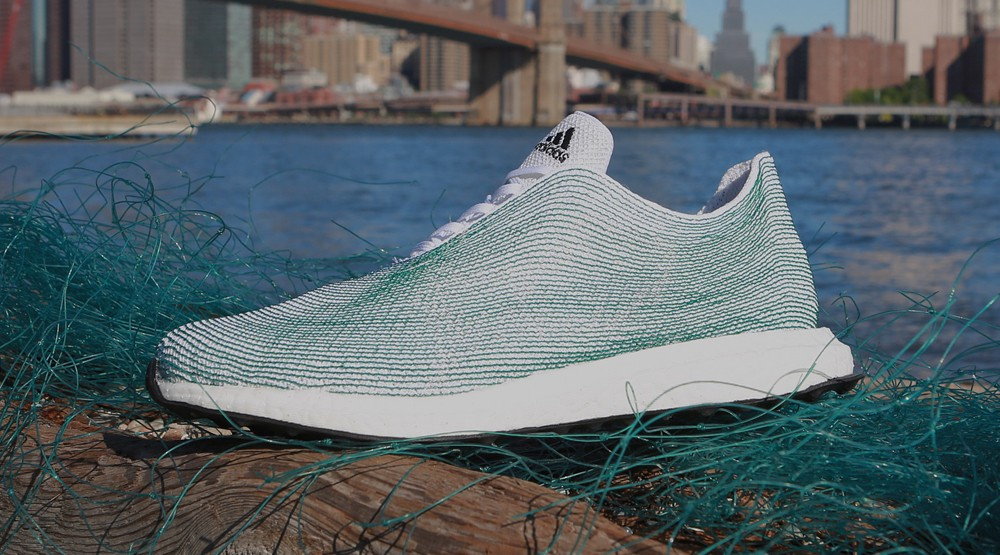 Adidas Shoes made from Sea Plastic