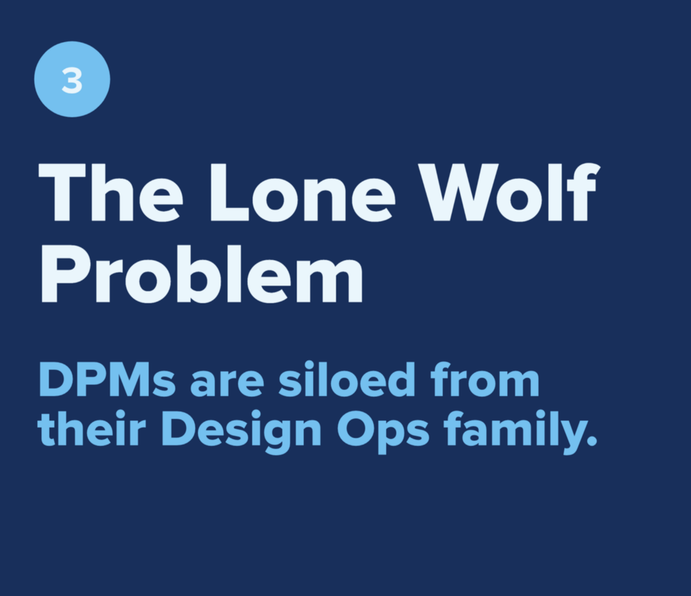 The Lone Wolf Problem—DPMs are siloed from their Design Ops family.